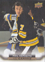 15-16 Upper Deck Phil Esposito UD Canvas Retired Stars Bruins 2015