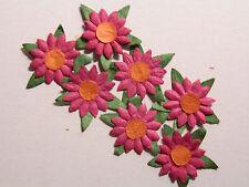 50+ FUCHSIA Paper DAISIES MPFF6::  23mm Scrapbook Craft Card Embellishments