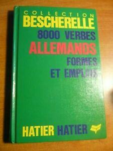 LOT Bescherelle 8000 verbes allemands ET 6000 verbes ANGLAIS Ed. Hatier 1988 TBE