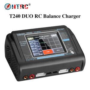 HTRC T240 DUO 10A RC Batteriebilanzladegerät für LiPo LiHV LiFe Lilon NiCd NiMh