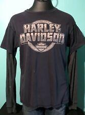 Harley-Davidson Men's Bold Font Long Sleeve T Shirt Size L