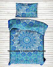 Psychedelic Star Mandala Indian Duvet Doona Cover Hippie Reversible Quilt Cover