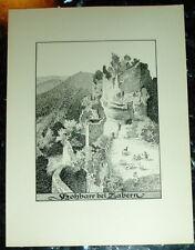Hohbarr Zabern Elsass: großf. Tafel Ansicht Druck 1920