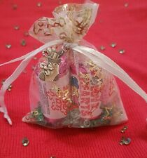 Christmas table decoration wedding favours gifts love heart sweets organza bag