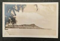 Mint Vintage Diamond Head Oahu Hawaii Photo Real Photo Postcard RPPC
