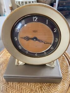 Smiths Vintage Retro Wooden Clock Working 8 day