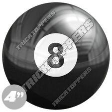 "Premium 4"" Custom Gloss Decal Sticker For Car Truck SUV Window - 8 POOL BALL"