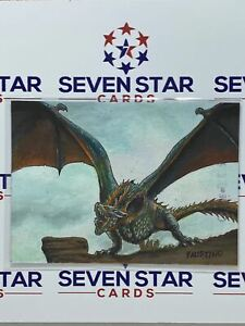 Game Of Thrones Iron Anniversary Sketch Card - Dragon by Jim Faustino