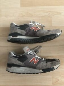 New Balance 998 Running Shoes M998GGO Gray Orange Made in USA Men's Size 11.5
