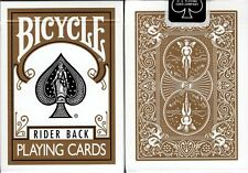Gold Bicycle Rider Back Deck Playing Cards Poker Size USPCC Custom Limited New
