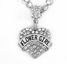 Flower girl charm gift crystal heart charm Jewelry Flowergirl gift charm only