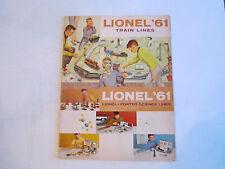 1961 LIONEL TRAIN CATALOG - LIONEL - PORTER SCIENCE LINES - COLLECTIBLE - BOX C