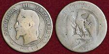 FRANCE 10 centimes 1861A Napoléon III tête laurée