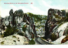 """Mt Montana: """"Nearing Butte on Northern Pacific"""" Unposted Divided-back Hand-color"""