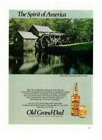 Old Grand-Dad Kentucky Straight Bourbon Whiskey 1984 Vintage Print Ad Mabry Mill