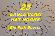 25 EAGLE CLAW HAT HOOKS Hat Pin/Tie Clasp GOLD PLATED FISH HOOK HAT PINS #155