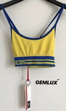GCDS Wear Giallo Sporty Top Size S RRP £85