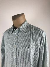 J Crew Mens Long Sleeve Button Front Green White Striped Dress Shirt Size L (J)