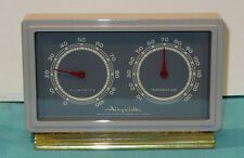 ATTRACTIVE VINTAGE AIRGUIDE THERMOMETER AND BAROMETER METAL AND GLASS WORKS WELL