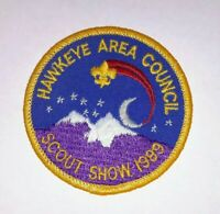 Boy Scout BSA Hawkeye Area Council Scout Show 1989 Patch