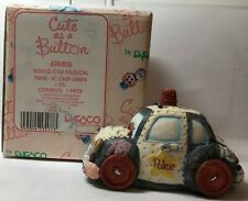 """""""Cute as a Button"""" - Squad Car made of Various Sewing Items - Working Siren"""