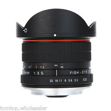 Kelda 8mm f/3.5 Camera Aspherical Circular Ultra Fisheye Lens for Canon Camera