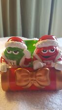 M & M Mars Collectable Ceramic Green & Red M & M Guys Sleigh Christmas Tree