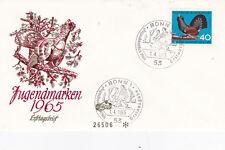West Germany 1965 Child Welfare Birds FDC Unadressed VGC