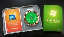 Microsoft Windows 7 Home Premium 32 & 64 Bit DVDs MS WINDOWS (Full version)