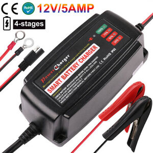 Battery Charger Tender Maintainer Trickle 12V 5A Car Automatic Motorcycle
