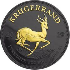 Südafrika 1 Rand 2019 Krügerrand Silbermünze Black Ruthenium Edition