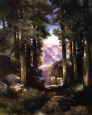 Art Oil painting Thomas Moran - Grand Canyon of the Colorado with forest canvas