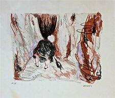 Véronique Vermeil lithographie originale signée art mural sculpture p 491