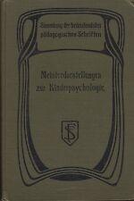 Maestro rappresentazioni di psicologia infantile (con 58 fig.) 1913
