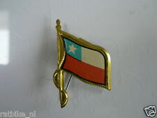 PINS,SPELDJES 50'S/60'S COUNTRY FLAGS 14 CHILI VINTAGE VERY OLD VLAG