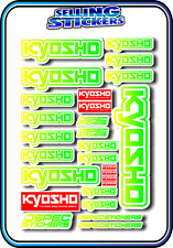 KYOSHO MODEL RC CAR DRONE BOAT BUGGY MINI Z STICKERS DECALS ROBOT R/C GRE/YEL W