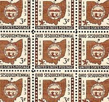 1953 - OHIO STATEHOOD - #1018 Full Mint -MNH- Sheet of 70 Postage Stamps