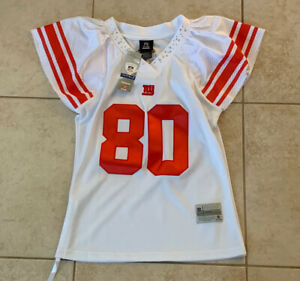 Victor Cruz 80 New York Giants NFL NFC East Reebok Women's White Jersey M New