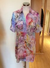 Just White Blouse Size 12 BNWT Pink Blue Yellow Green Floral RRP £108 Now £49