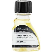 Winsor & Newton Refined Linseed Oil 75ml Artist Painting Medium