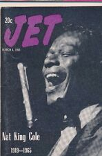 3/4/1965 JET MAGAZINE Nat King Cole Very Good Condition