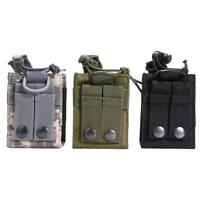 Outdoor Hiking Tactical Molle Radio Walkie Talkie Bag Magazine Holder Pouch Case