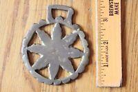 Horse Medallion Brass tack Bridle Saddle Badge Ornament Vintage wagon wheel sun