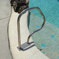"Swimming Pool Hand Rail Step Grab Rail HRA01B  ""BOLT DOWN""  Stainless Steel"