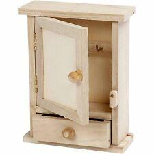 Mini caja gabinete de clave-Liso De Madera Pintura Decorar Personalizar Casa pequeño en la parte delantera superior