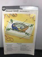 Vintage 1991 Wilton Dinosaur Family Happy Birthday Cake Topper Decoration SEALED