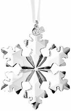 2016 Swarovski Crystal Christmas Ornament Annual Edition Snowflake New #5180210