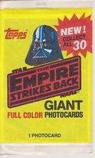 1980 Topps STAR WARS EMPIRE STRIKES BACK GIANT PHOTOCARD-New Vtg-NOS-Darth V