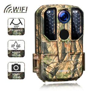 Wildkamera WIFI Campark 20MP Jagdkamera Fotofalle Nachtsicht Überwachungskamera