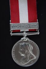 STERLING SILVER CANADIAN GENERAL SERVICE MEDAL.( RED RIVER 1870)